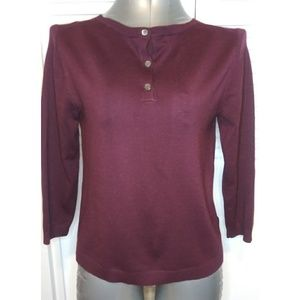 Burgandy Blouse with buttons